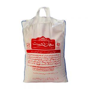 برنج ممتاز هاشمی کیسه 5 کیلوگرمی مهمان دوست