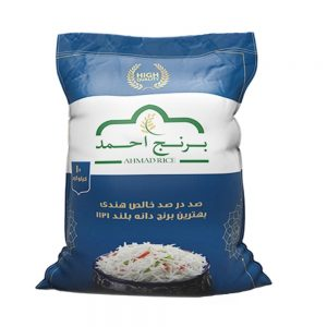 برنج هندی دانه بلند 10 کیلوگرمی 1121 احمد