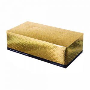 دستمال کاغذی 100 برگ سه لایه طلایی سافتلن