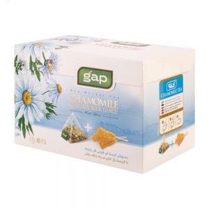 دمنوش چای بابونه با نبات گپ