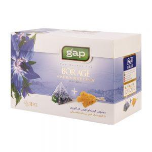 دمنوش چای گل گاوزبان با نبات گپ