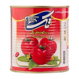 رب گوجه فرنگی قوطی 800 گرمی تک
