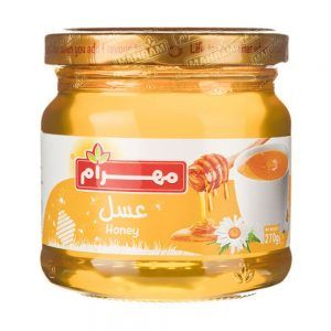 عسل شیشه ای270 گرمی مهرام