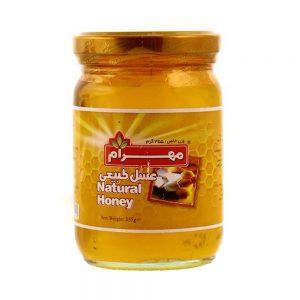 عسل شیشه ای450 گرمی مهرام