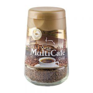 قهوه گلد شیشه ای 100 گرمی مولتی کافه