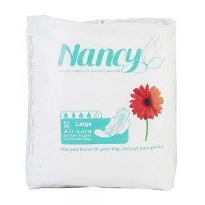 نوار بهداشتی بالدار نازک بزرگ 12 عددی نانسی