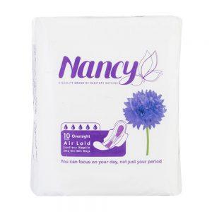 نوار بهداشتی بالدار نازک شب 10 عددی نانسی