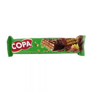 ویفر کاکائویی با کرم فندقی 30 گرمی کوپا