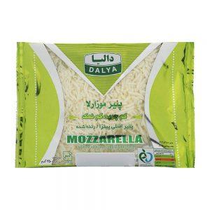 پنیر موزارلا کم چرب وکم نمک رنده شده 250گرمی دالیا