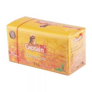 چای تی بگ ساده پاکت دار 25 عددی کاپیتان