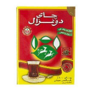 چای جعبه مقوایی ساده 100 گرمی دوغزال