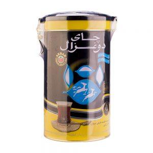 چای قوطی فلزی عطری 400 گرمی دو غزال