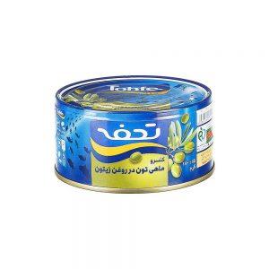 کنسرو ماهی تن در روغن زیتون کلیددار 180 گرمی تحفه
